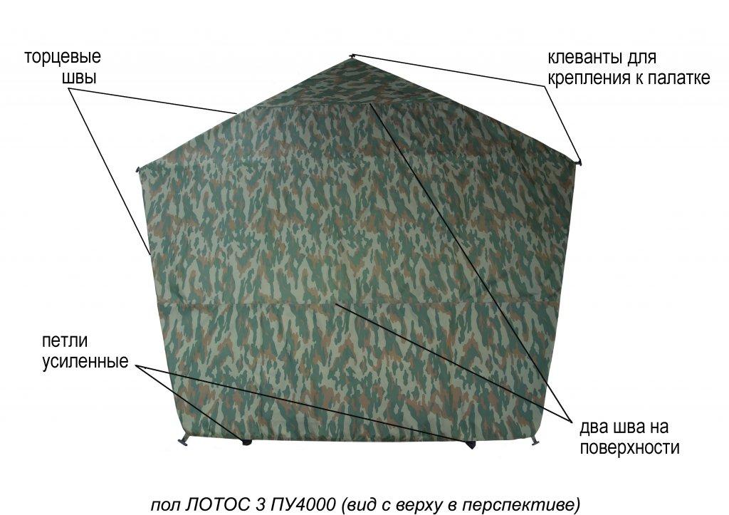 пол утепленный ЛОТОС 3 ПУ4000 для зимней палатки (элементы)