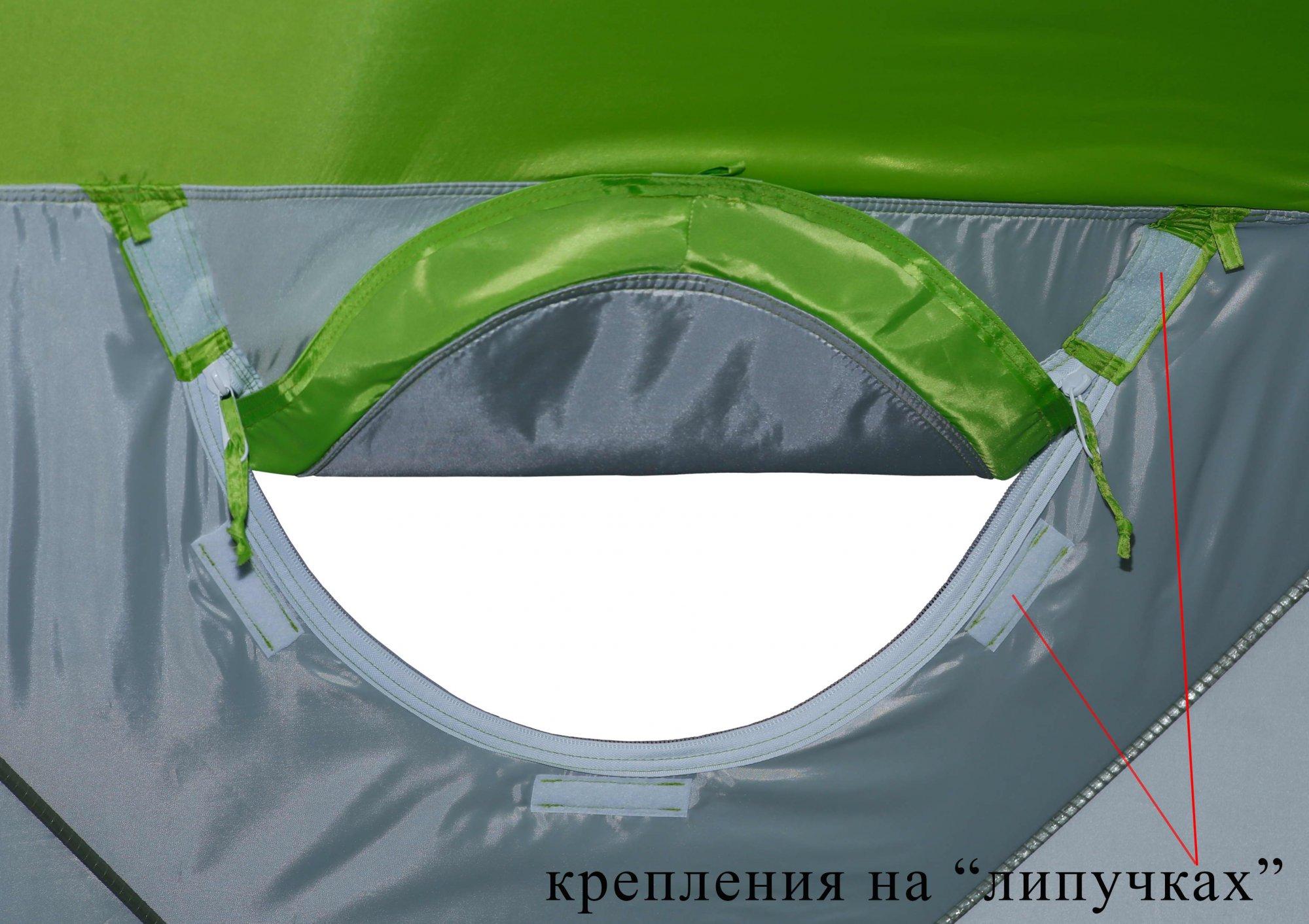 Зимняя палатка ЛОТОС Куб М2 Термо_универсальное окно, вид изнутри