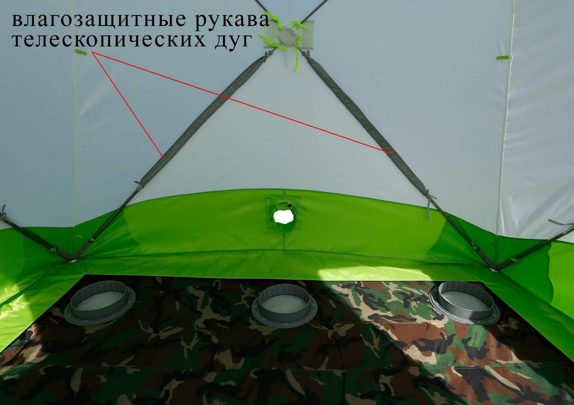 Зимняя палатка ЛОТОС Куб М2 (влагозащитные рукава дуг)