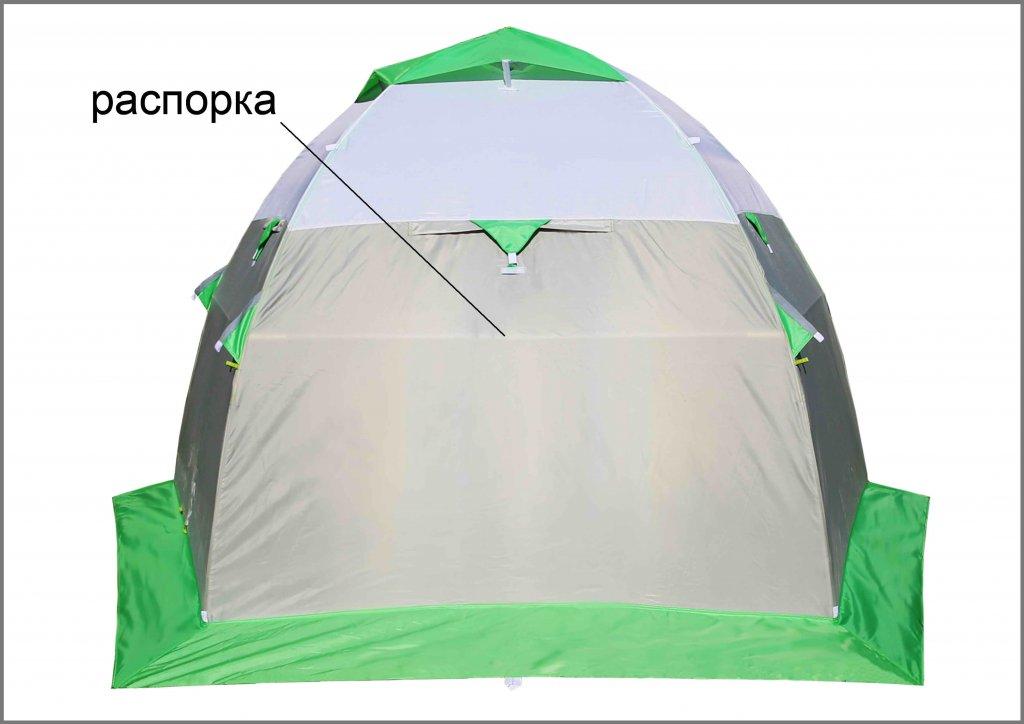 зимняя палатка ЛОТОС 3 с распоркой на каркасе