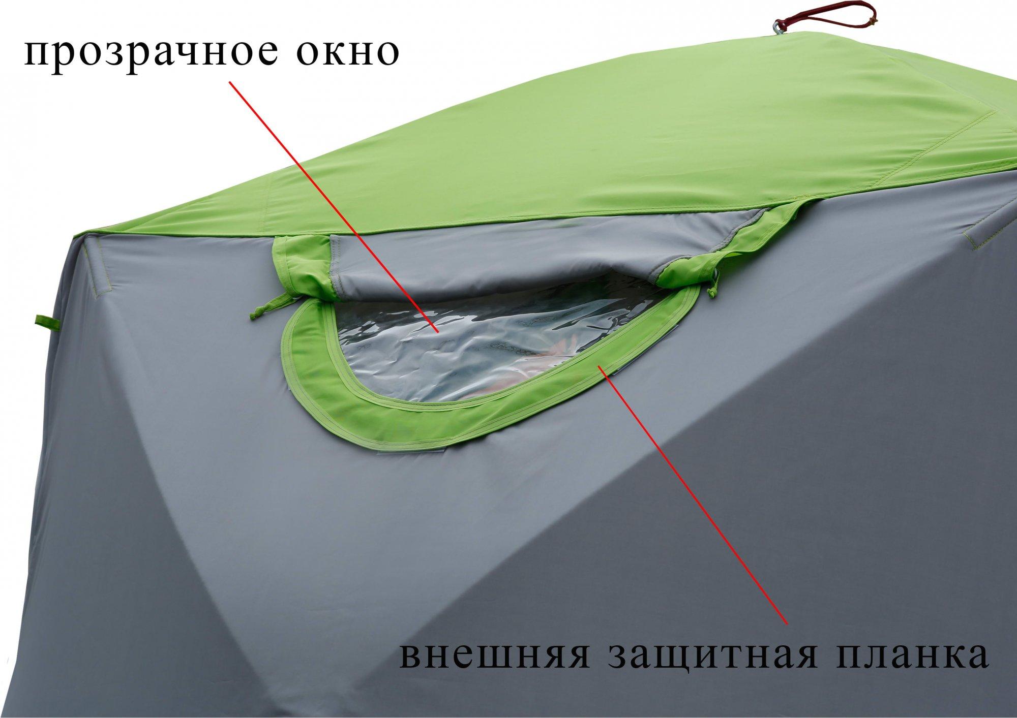 Зимняя палатка ЛОТОС Куб М2 Термо_съемное прозрачное окно