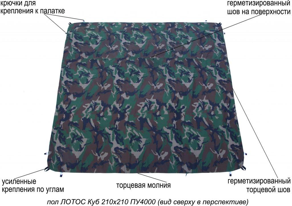 пол утепленный ЛОТОС Куб 210х210 ПУ4000