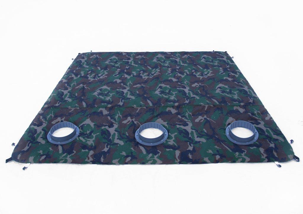 пол утепленный с отверстиями под лунки ЛОТОС Куб 210х210 ПУ4000 для зимней палатки