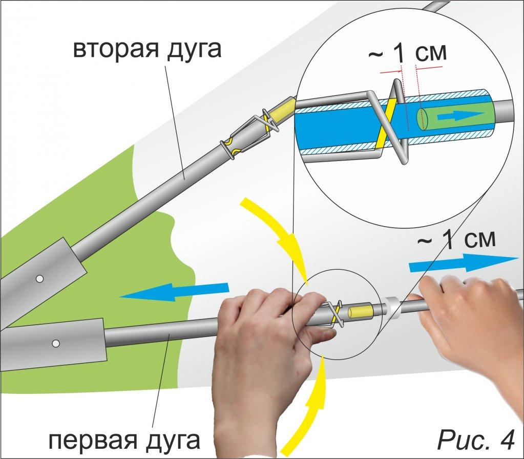 Телескопические дуги каркаса палатки ЛОТОС Куб
